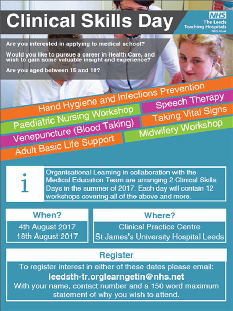 Featured Job Clinical Skills Days 2017